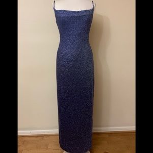 BEAUTIFUL CITY TRIANGLES SHIMMER LONG DRESS SIZE S
